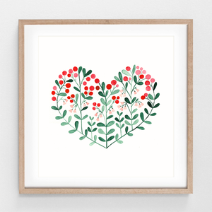 Poster Lingonberry Heart