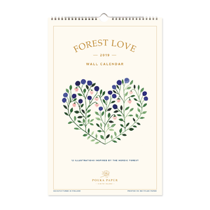 Wall Calendar Forest Love 2019