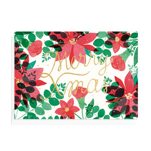 Greeting card Christmas Flora