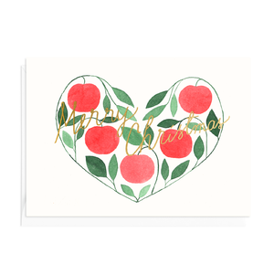 Greeting card Apple Heart