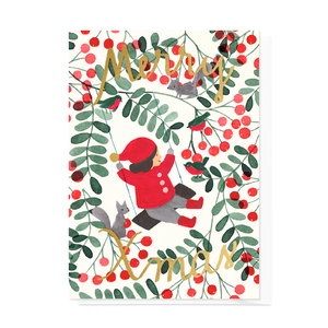 Greeting card Rowan Tree Swing
