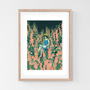 Art Print In the  Rose Garden