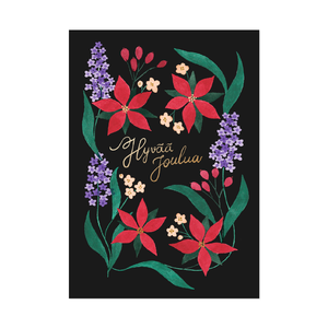 Postcard Christmas flowers