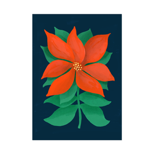 Postcard Poinsettia
