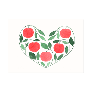 Postcard Apple Heart