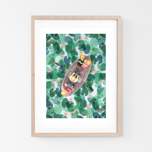 Art Print On The Lake